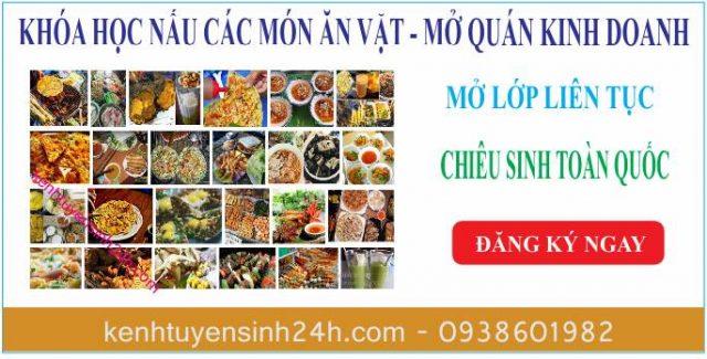 Khóa học nấu ăn vặt tại Hà Nội