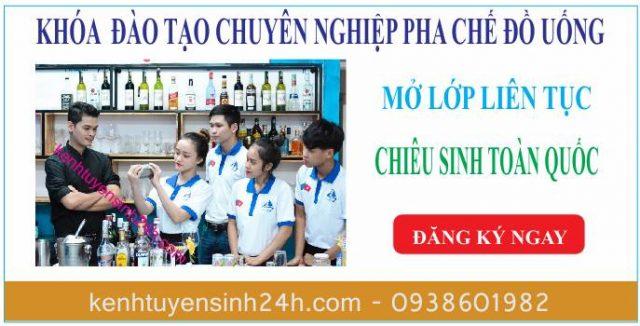 Học pha chế ở tại Đà Nẵng. Trung tâm dạy pha chế bartender