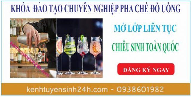 Học pha chế ở tại Hà Nội. Trung tâm dạy pha chế bartender
