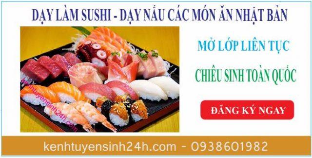 Học làm sushi ở tại TPHCM