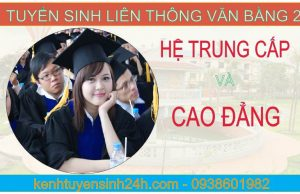 Tuyển sinh liên thông văn bằng 2 hệ cao đẳng trung cấp tại Hà Nội