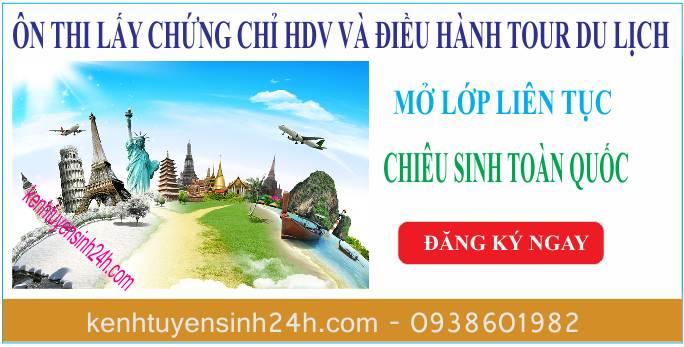 chứng chỉ HDV du lịch và nghiệp vụ điều hành du lịch
